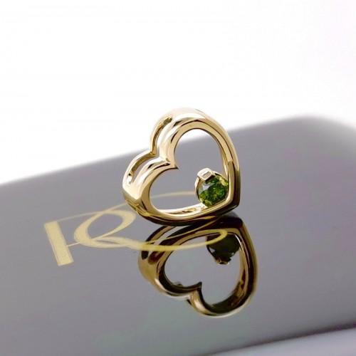 Висулка 14K злато и Зелен диамант 0.11ct