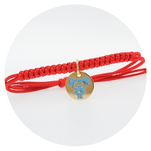 Children's zodiac bracelet, yellow gold 9K