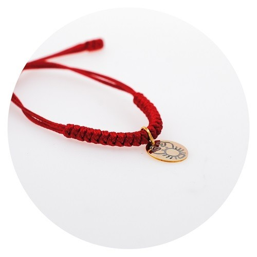 Children's zodiac bracelet, yellow gold 9K