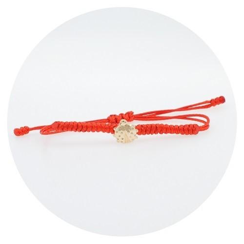 Children's braided bracelet with 14K yellow gold