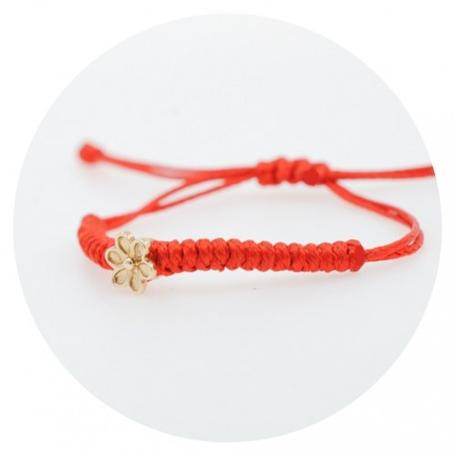 Children's braided bracelet with 14K yellow gold