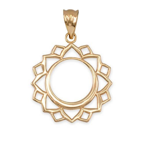 Necklace Vishuddha 14K Gold with weight 2,97gr
