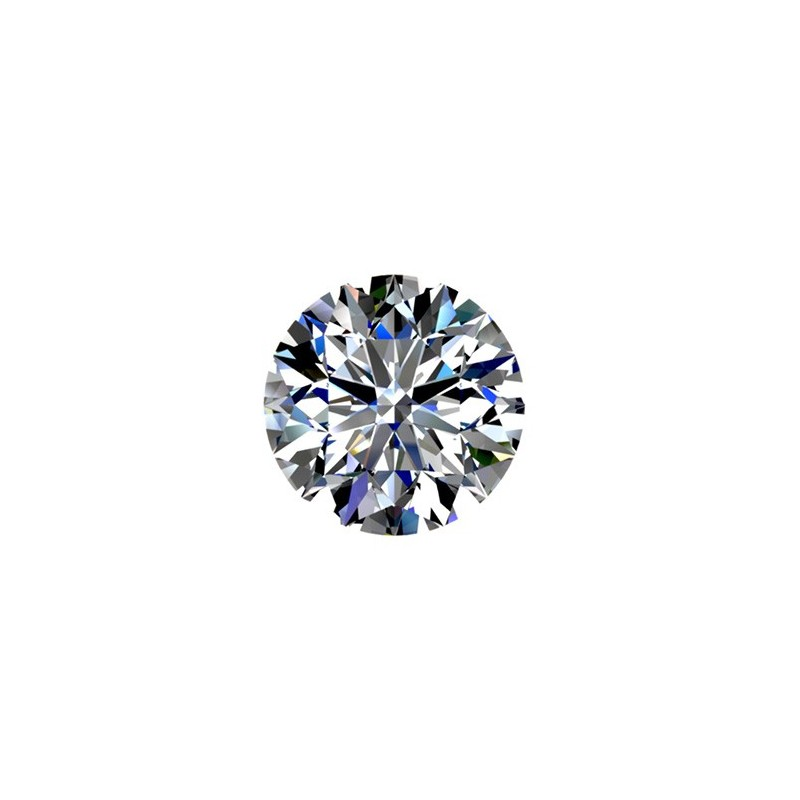 1.0 carat, Round cut, color K, Diamond