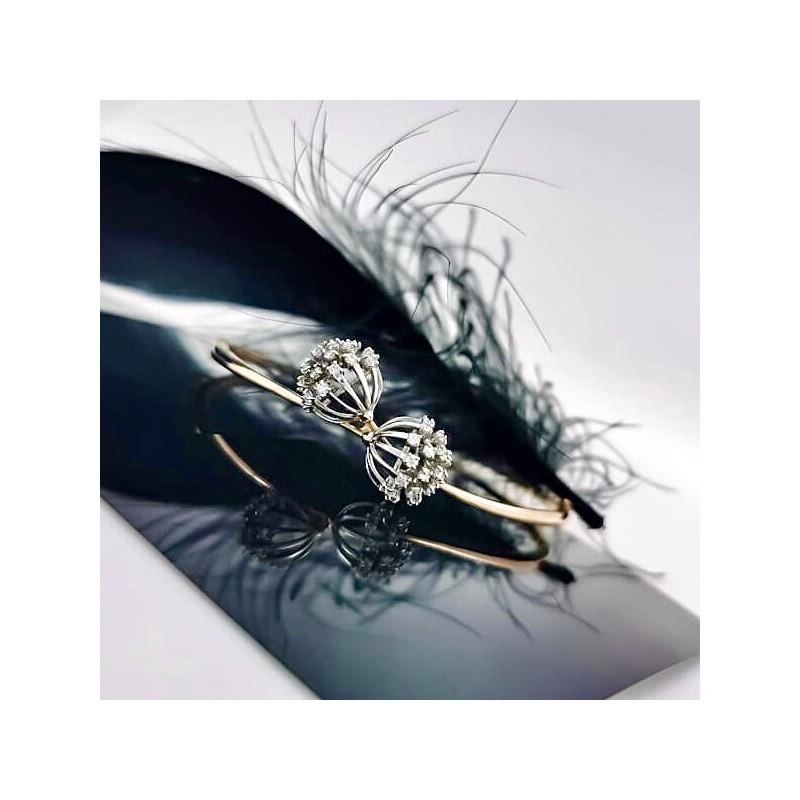 Dandelion Bracelet 14K Rose Gold and 0.50ct diamonds