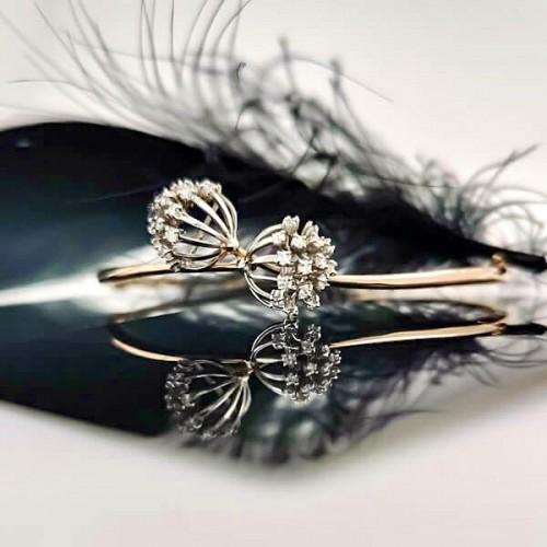 Гривна Глухарче 14К Розово Злато и 0.50ct диаманта