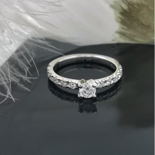 Годежен Пръстен 18К Злато и диаманти 0.66ct