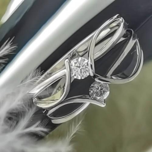 Годежен пръстен 14K злато с диамант 0,10ct