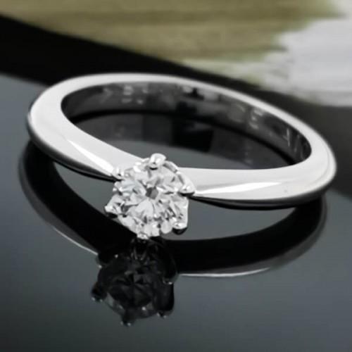 Годежен Пръстен 18К Злато и диамант 0.30ct.