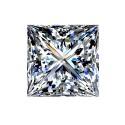 1.55 carat, Princess cut, color H, Diamond