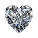 0.75 carat, Heart cut, color F, Diamond