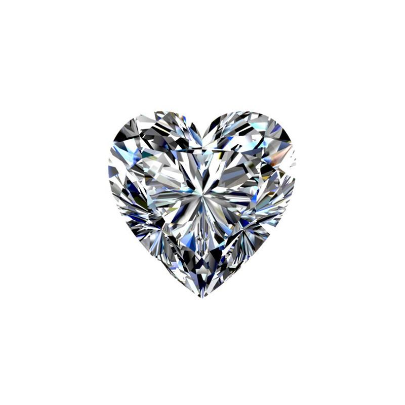 0.61 carat, Heart cut, color F, Diamond