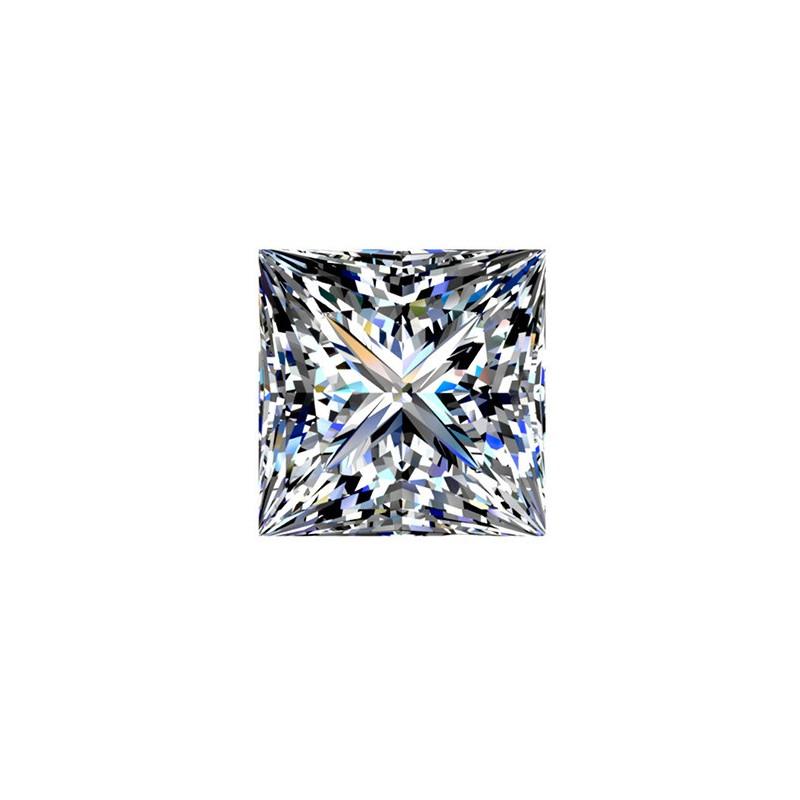 1.5 carat, Princess cut, color H, Diamond