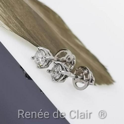 Diamond Earrings White Gold with diamonds 0.50ct